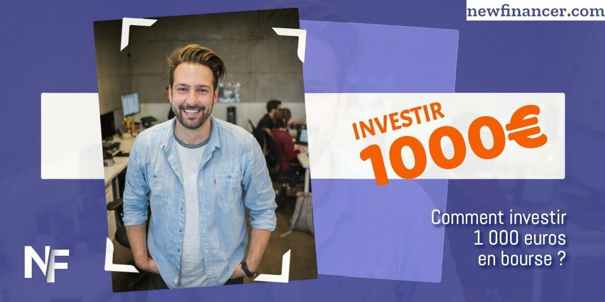 Comment investir 1000 euros en bourse ?