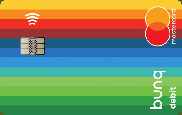 bunq Carte Mastercard Front