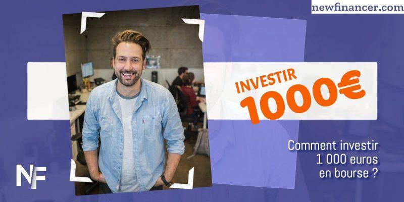 Comment investir 1000 euros en bourse en 2021 en France ?